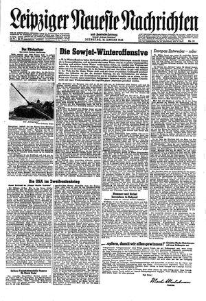 Leipziger neueste Nachrichten und Handelszeitung  vom 16.01.1945