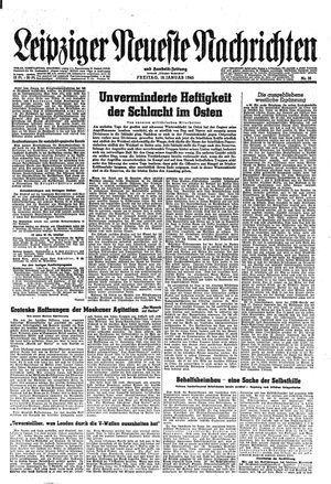 Leipziger neueste Nachrichten und Handelszeitung  vom 19.01.1945