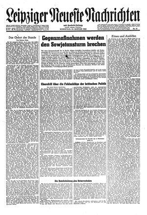 Leipziger neueste Nachrichten und Handelszeitung  vom 21.01.1945