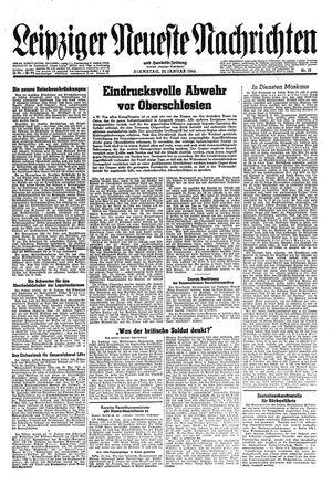 Leipziger neueste Nachrichten und Handelszeitung  vom 23.01.1945