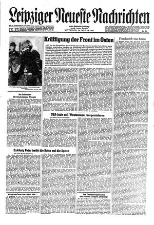Leipziger neueste Nachrichten und Handelszeitung  vom 24.01.1945