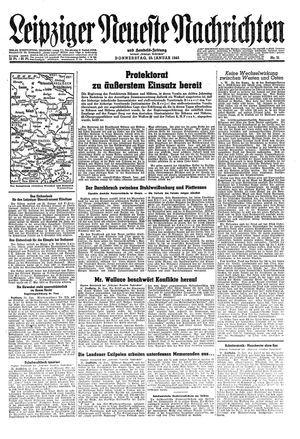 Leipziger neueste Nachrichten und Handelszeitung  vom 25.01.1945