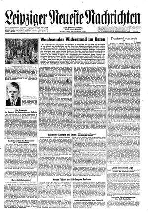 Leipziger neueste Nachrichten und Handelszeitung  vom 26.01.1945