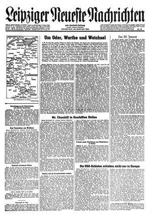 Leipziger neueste Nachrichten und Handelszeitung  vom 28.01.1945