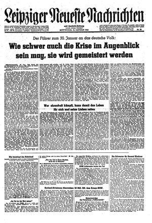 Leipziger neueste Nachrichten und Handelszeitung  vom 31.01.1945