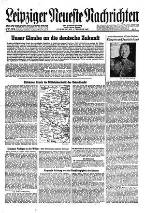 Leipziger neueste Nachrichten und Handelszeitung  vom 01.02.1945