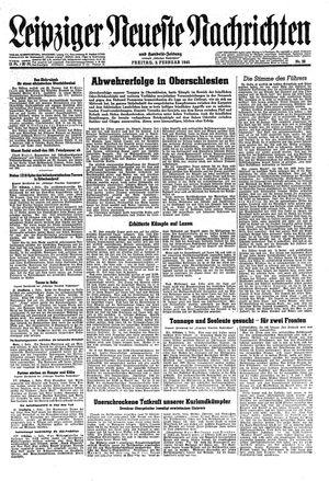 Leipziger neueste Nachrichten und Handelszeitung  vom 02.02.1945