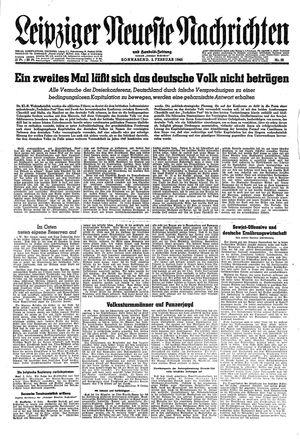 Leipziger neueste Nachrichten und Handelszeitung  vom 03.02.1945
