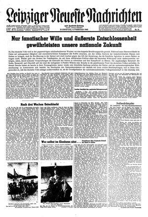 Leipziger neueste Nachrichten und Handelszeitung  vom 06.02.1945