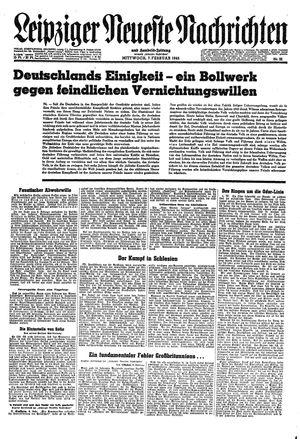 Leipziger neueste Nachrichten und Handelszeitung  vom 07.02.1945