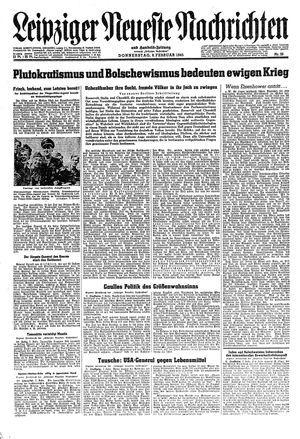 Leipziger neueste Nachrichten und Handelszeitung  vom 08.02.1945