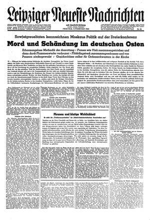 Leipziger neueste Nachrichten und Handelszeitung  vom 09.02.1945