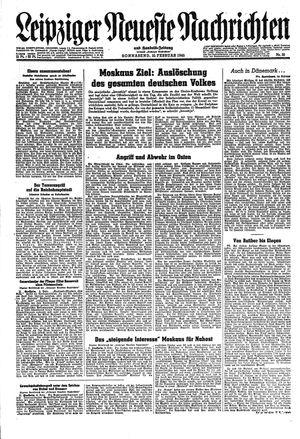 Leipziger neueste Nachrichten und Handelszeitung  vom 10.02.1945