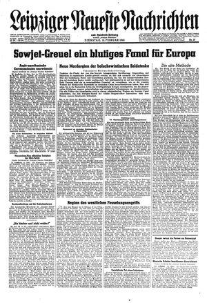 Leipziger neueste Nachrichten und Handelszeitung  vom 13.02.1945