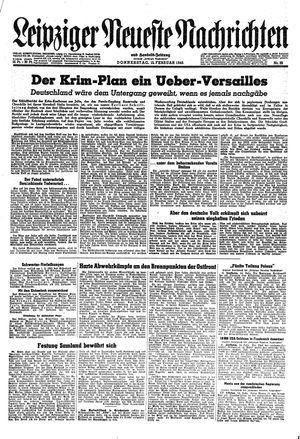 Leipziger neueste Nachrichten und Handelszeitung  vom 15.02.1945