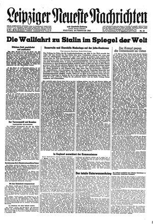 Leipziger neueste Nachrichten und Handelszeitung  vom 16.02.1945