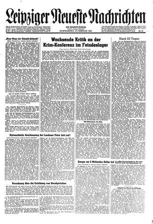 Leipziger neueste Nachrichten und Handelszeitung  vom 17.02.1945