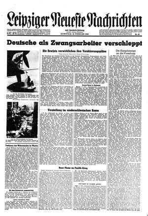 Leipziger neueste Nachrichten und Handelszeitung  vom 18.02.1945