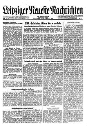 Leipziger neueste Nachrichten und Handelszeitung  vom 22.02.1945