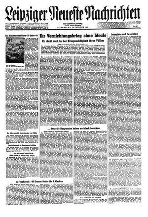 Leipziger neueste Nachrichten und Handelszeitung  vom 24.02.1945