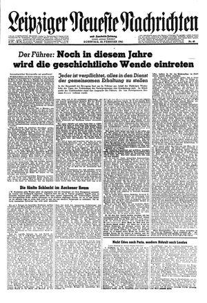Leipziger neueste Nachrichten und Handelszeitung  vom 25.02.1945