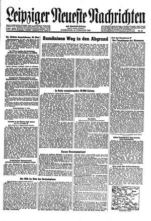 Leipziger neueste Nachrichten und Handelszeitung  vom 27.02.1945