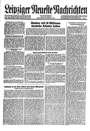 Leipziger neueste Nachrichten und Handelszeitung  vom 28.02.1945