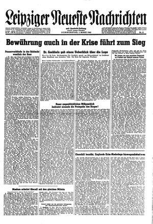 Leipziger neueste Nachrichten und Handelszeitung  vom 01.03.1945