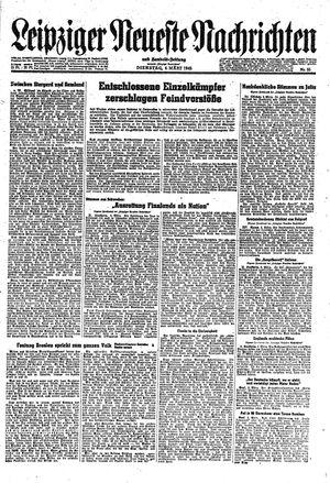 Leipziger neueste Nachrichten und Handelszeitung  vom 06.03.1945