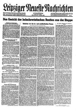 Leipziger neueste Nachrichten und Handelszeitung  vom 07.03.1945