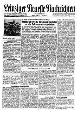 Leipziger neueste Nachrichten und Handelszeitung  vom 08.03.1945