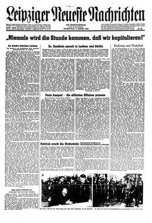 Leipziger neueste Nachrichten und Handelszeitung  vom 11.03.1945