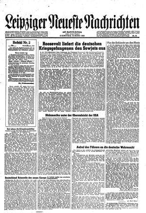 Leipziger neueste Nachrichten und Handelszeitung  vom 13.03.1945