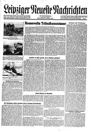 Leipziger neueste Nachrichten und Handelszeitung  vom 14.03.1945