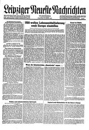 Leipziger neueste Nachrichten und Handelszeitung  vom 16.03.1945