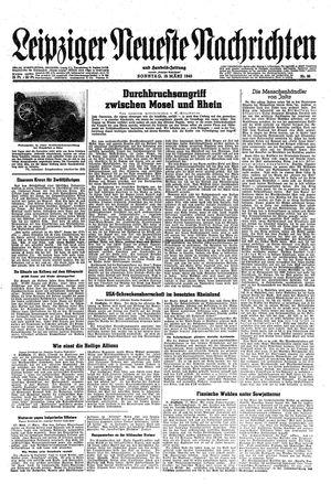 Leipziger neueste Nachrichten und Handelszeitung  vom 18.03.1945
