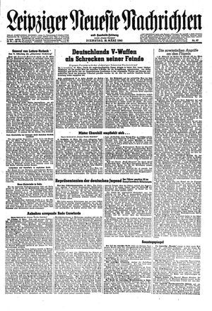 Leipziger neueste Nachrichten und Handelszeitung  vom 20.03.1945