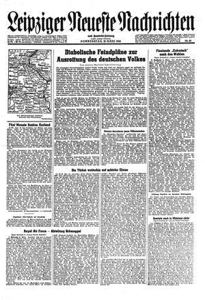 Leipziger neueste Nachrichten und Handelszeitung  vom 22.03.1945