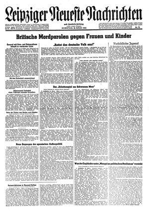 Leipziger neueste Nachrichten und Handelszeitung  vom 25.03.1945