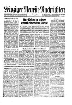 Leipziger neueste Nachrichten und Handelszeitung  vom 27.03.1945