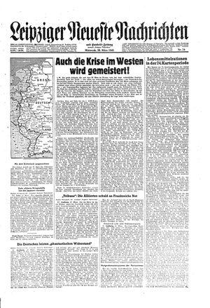Leipziger neueste Nachrichten und Handelszeitung  vom 28.03.1945