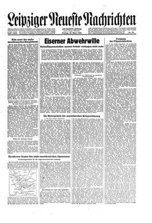 Leipziger neueste Nachrichten und Handelszeitung  vom 30.03.1945