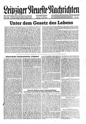 Leipziger neueste Nachrichten und Handelszeitung  vom 01.04.1945
