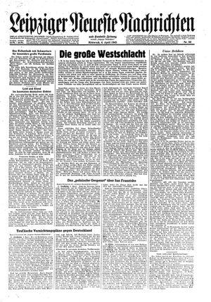 Leipziger neueste Nachrichten und Handelszeitung  vom 04.04.1945