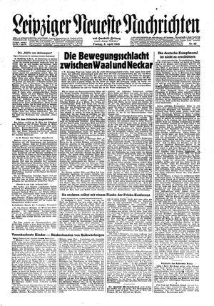 Leipziger neueste Nachrichten und Handelszeitung  vom 06.04.1945