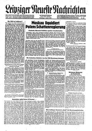 Leipziger neueste Nachrichten und Handelszeitung  vom 08.04.1945