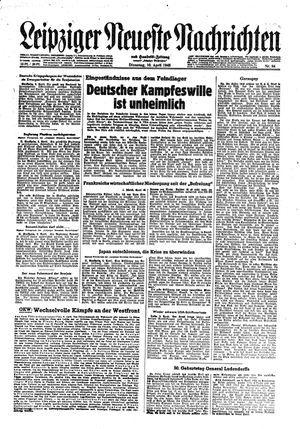Leipziger neueste Nachrichten und Handelszeitung  vom 10.04.1945