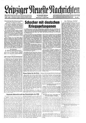Leipziger neueste Nachrichten und Handelszeitung  vom 11.04.1945