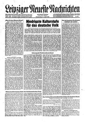 Leipziger neueste Nachrichten und Handelszeitung  vom 12.04.1945