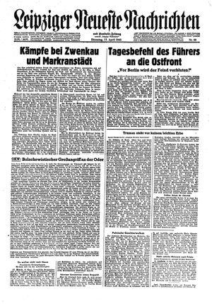 Leipziger neueste Nachrichten und Handelszeitung  vom 17.04.1945